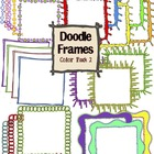 Digital Clip Art Doodle Frames {Color Pack 2}