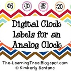 Digital Clock Labels