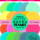 Digital Dotted Round Frames - Totally Tropical