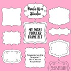 Digital Download Clip Art Frames - Black and White Borders