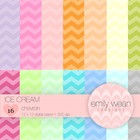 Digital Paper - Ice Cream - Chevron Background