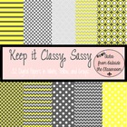 Digital Paper Pack- Keep It Classy Sassy