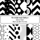 Digital Papers Black and White Patterns