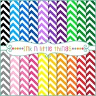 Digital Papers - Colorful Chevron Backgrounds