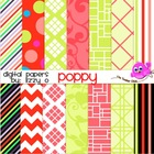 Digital Papers - Poppy