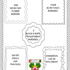Digital Stamp Borders Clipart PU and CU OK