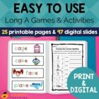 Digraph Activities, Games & Worksheets {a-e} {ai} {ay}