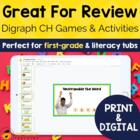 Digraph Activities, Games &amp; Worksheets {ch}