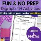 Digraph Activities, Games &amp; Worksheets {th}