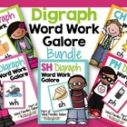 Digraph Word Work Galore Bundle-Differentiated and Aligned