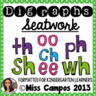Digraph Worksheets : Sh, Ch, Th, Wh, Ph, EE, OO