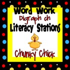 Digraph ch Word Work Literacy Stations and Centers