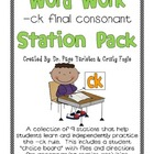 Digraph ck Literacy Station Word Work
