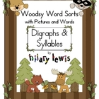 Digraphs &amp; Syllables Word Sorts with Pictures