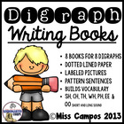 Digraphs Writing : 8 books for wh, ph, sh, th, ch, ee, lon