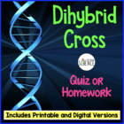 Genetics:  Dihybrid (Two Factor) Problem Quiz
