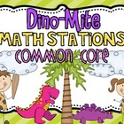 Dino-Mite Math Stations {Common Core}