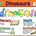 Dinosaur Unit Literacy, Math, & Science