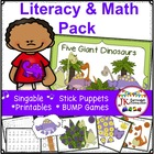 Dinosaur Addition & Five Giant Dinosaurs Singable {CCSS}