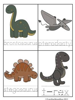 Dinosaur Adventure Write/Stamp the Room Spelling Vocabulary Game