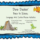 Dinosaur Dashin&#039; Back To School Literacy Center Activities