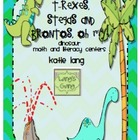 T-Rexes, Stegas and Brontos, Oh My! Dinosaur Math and Lite