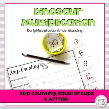 Dinosaur Multiplication - Arrays, Skip Counting & Equal Groups