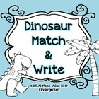 Dinosaur Place Value Match and Write