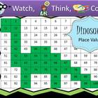 Dinosaur Place Value Practice - Watch, Think, Color Game!