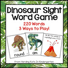Dinosaur Sight Word Game (Dolch Word Lists 1-11)