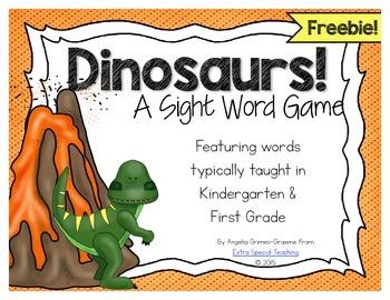 Dinosaur Sight Word Game