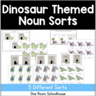 Dinosaur Themed Noun Sorts