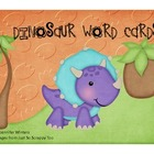 Dinosaur Word Cards