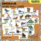 Dinosaur Word Wall Cards (set of 4)