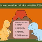 Dinosaur words differentiated spelling packet by SpellingP