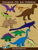 Dinosaurs Clip Art Collection - Personal and Commercial Use