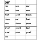 Diphthong OW Word Cards