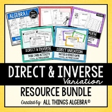 Direct and Inverse Variation - Notes, Homework, Activities