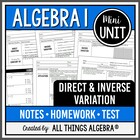 Direct and Inverse Variation - Notes & Homework Bundle!