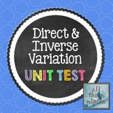Direct and Inverse Variation - Unit Test