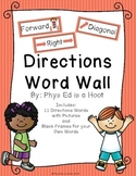 Directions Word Wall