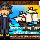 Discovering Four Types of Sentences Scoot Cards and INB Foldables