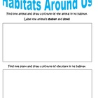 Discovery Science First Grade &quot;Living in Habitats&quot; Workshe