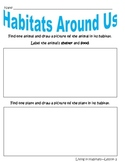 "Discovery Science First Grade ""Living in Habitats"" Workshe"