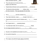 Disease and The Tudors - Resource sheets and Worksheet