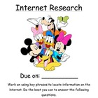 Mickey and Friends Internet Research Project