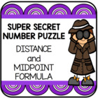 Distance and Midpoint Formula Super Secret Number Game
