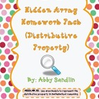 Distributive Property - Hidden Arrays - {Homework/Classwork Pack}