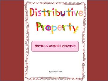 Distributive Property Intro ~ Notes + Worksheet ~ Common C