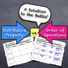 Distributive Property Versus Order of Operations: Solution